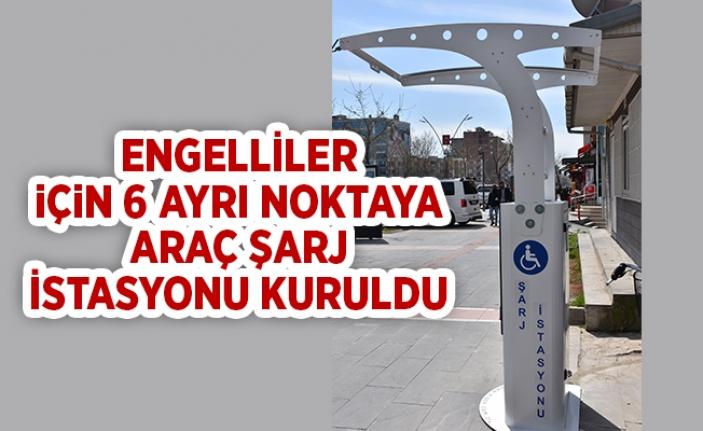 Batman Belediyesi, Engelliler için 6 ayrı noktaya araç şarj istasyonu kurdu.